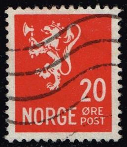 Norway #196 Lion Rampant; Used (0.25)