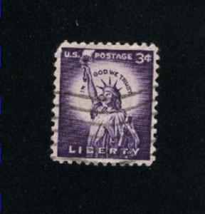 USA #1035  3 used 1954-1968 PD .08