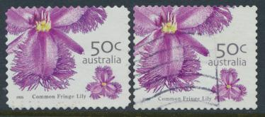 Australia  SC# 2399 & 2403 Used  Common Fringe Lily please see details