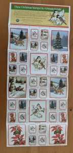 1986 National Wildlife Federation-Conservation Christmas Stamps Full Sheet of 36