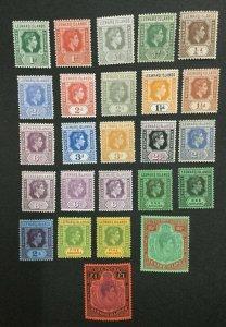MOMEN: LEEWARD ISLANDS SG # 1938-51 MINT OG 21NH/4H LOT #198624-6206