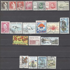 COLLECTION LOT OF # 1693 GREENLAND 20 STAMPS 1963+ CV+$20