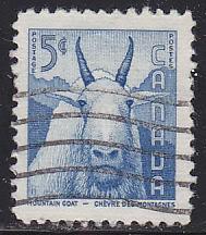 Canada 361 Mountain Goat 5¢ 1956