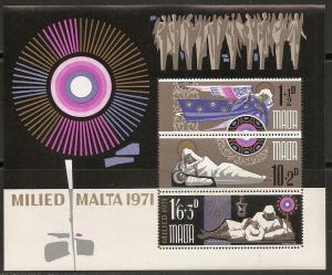 Malta B9a 1971 Christmas s.s. MNH
