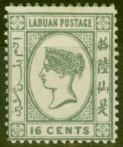 Labuan 1894 SG56 16c Grey Fine Mtd Mint