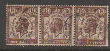 GB George V  SG 436 used middle stamp with unrecorded variety?