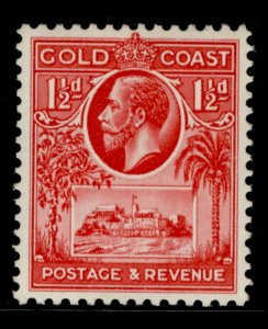 GOLD COAST GV SG105, 1½d scarlet, M MINT.