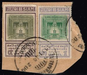 Thailand SC# 201 & 202 - Used On Piece - Lot 122715