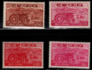 South Vietnam Scott 150-153 MH* Tractor set
