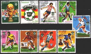Paraguay. 1980. 3327-35. Spain-82, football. USED.