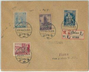 71969 -  ITALIA: FIUME - STORIA POSTALE :    BUSTA RACCOMANDATA  1924