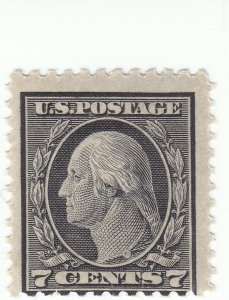 Scott # 507 - 7c Black - Washington - perf 11 - Mint Hinged