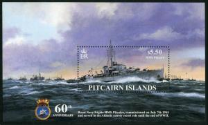 Pitcairn 599,MNH. Commissioning of HMS Pitcairn,60th Ann.2004.