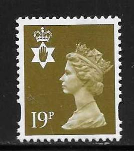 Great Britain Northern Ireland NIMH57 19p Machin Center B...