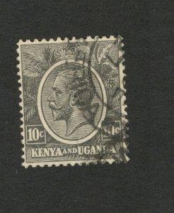 KENYA AND UGANDA - USED STAMP - KING GEORGE , 10c