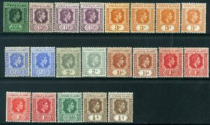 Leeward Islands 1938 KGVI Part of SG95 to SG110 Mounted Mint (mixed)