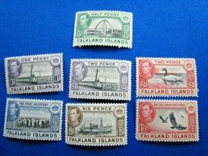 FALKLAND ISLANDS  1938-1946  -  SCOTT # 84//92  -   MLH       (X11)