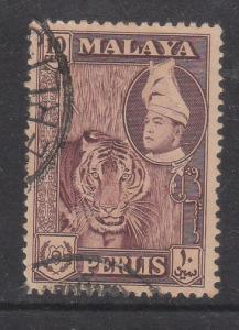 Malaya Perlis 1957 Sc 34 10c Used