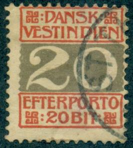 Danish West Indies #J6  Used  Scott $14.00