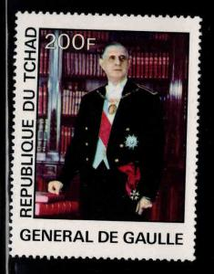 Chad TCHAD Scott 333 Charles de Gaulle stamp MH*