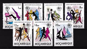 [55377] Mozambique 1983 Olympic games Swimming Boxing Basketball Sailing MNH