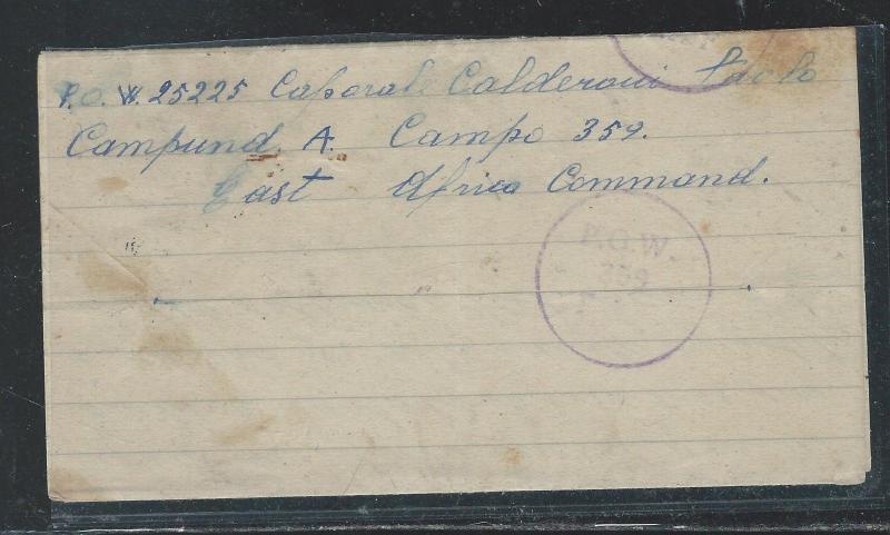KENYA  UGANDA TANGANYIKA (P2609B)WWII ITALIAN POW CAMP 359 PW MIDDLE EAST 175 19