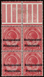 Bechuanaland Scott AR3a Gibbons F3a Block of Stamps