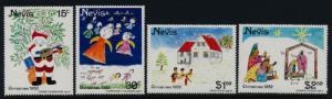 Nevis 159-62 MNH Christmas, Children's Art