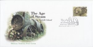 Norfolk Island 2002 FDC Sc #763 $4.50 The Age of Steam