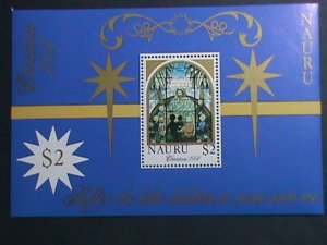 NAURU-1991-SC#395-STAIN GLASS WINDOW-ALL THE CHILDREN COME WITH ME- MNH S/S