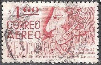 Mexico C446 (used) 1.60p Mayan bas-relief