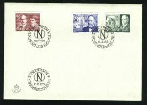 Sweden. FDC 1975 Nobel Prize 1915. Engraver A. Wallhorn.