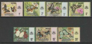 MALAYA MALACCA SG70/6 1971 BUTTERFLIES MNH