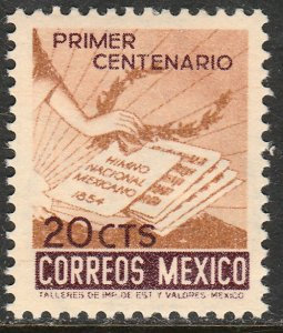 MEXICO 888 20¢ Centenary of the National Anthem. MINT, NH. VF.