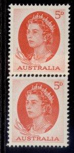 AUSTRALIA QEII SG354ca, 5d red, M MINT. Cat £19.
