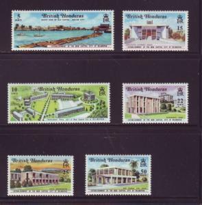 British Honduras Sc 269-74 1971 Belmopan stamp set mint