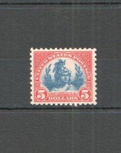 C0529 1923 UNITED STATES AMERICA ALLEGORY !!! RARE #573 VERY FINE ST MNH