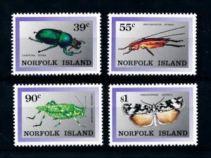 [90947] Norfolk Island 1989 Insects Beetle Butterfly  MNH