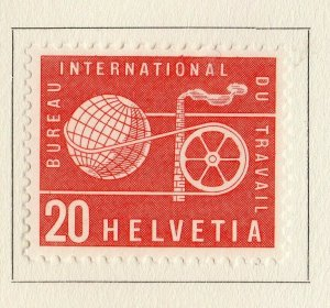Switzerland Helvetia 1956 Early Issue Fine Mint Hinged 20c. NW-170843