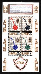 Guyana-Sc#252a-unused NH sheet-Guitar-Sitar Festival-Music-1977-