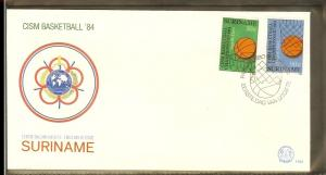 1984 - Rep. Surinam FDC E083 - Sport - Basketball - CISM championships 1984 [...
