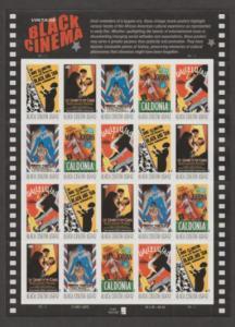 U.S. Scott #4336-4340 Black Cinema Stamps - LL Plate Position - Mint NH Sheet