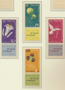 Israel Stamps Scott #66 To 69, Mint Never Hinged, With Tabs - Free U.S. Shipp...