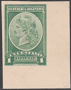 ARGENTINA - Plate proof on thick card.......................................D682