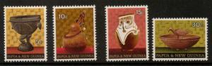 PAPUA NEW GUINEA SG187/90 1970 NATIVE ARTEFACTS MNH