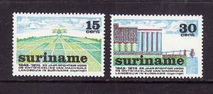 Suriname-Sc#413-14-unused NH set-Mechanical Agriculture-1974-