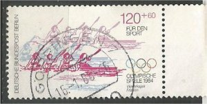 GERMANY,Berlin 1984, used 120pf+60pf, Olympic Scott 9NB215