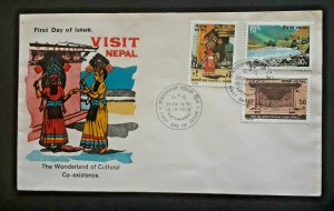 1978 Kathmandu Nepal World Of Cultural Coexistence Illustrated 1st Day Cover