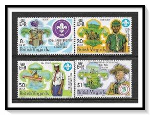 British Virgin Islands #438-441 Scouting Year Set MNH