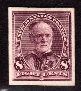 US Stamp Scott #225p4 mint, hinged, XF